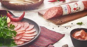 Колбаса сырокопченая Зі свининою