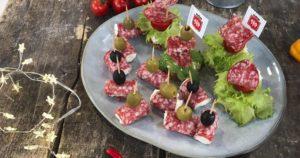 Канапе с колбасой от ТМ Мясна Гільдія